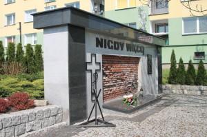 Ściana straceń upamiętniająca egzekucję ludności polskiej w listopadzie 1943 r.