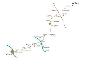 Uproszczona mapa Szlaku