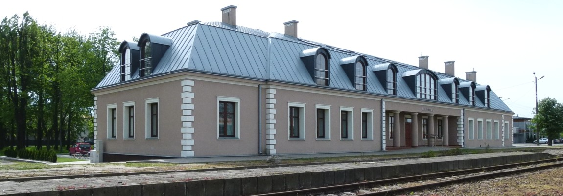 The railway station complex – currently the City Public Library